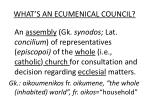 what s an ecumenical council1