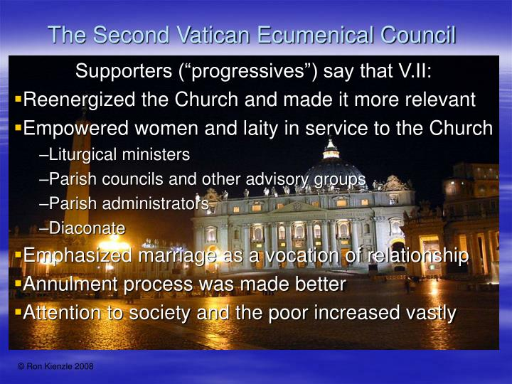 the second vatican council essay Naturally, the council fathers — those prominent theologians and clergymen who participated in the second vatican council between 1962 and 1965 — had not intended to deliberately obfuscate the.