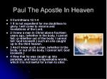 paul the apostle in heaven