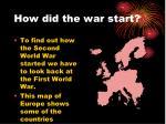 how did the war start