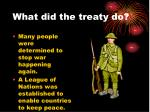 what did the treaty do