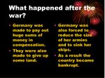 what happened after the war