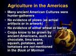 agriculture in the americas