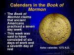 calendars in the book of mormon