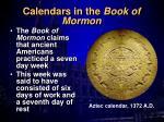 calendars in the book of mormon
