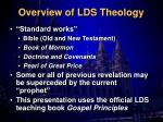 overview of lds theology