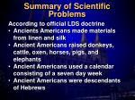 summary of scientific problems1