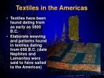 textiles in the americas