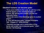 the lds creation model2