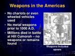 weapons in the americas