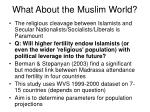what about the muslim world