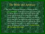 the bible and apostasy