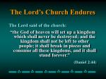 the lord s church endures