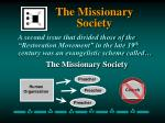 the missionary society