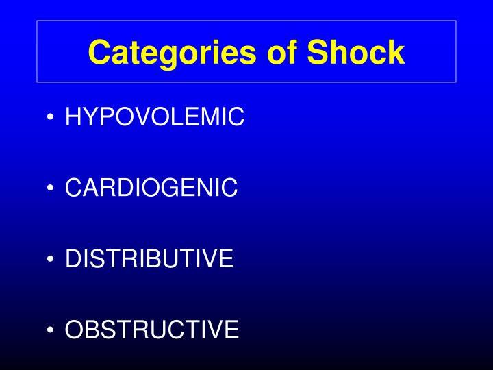 Categories of Shock