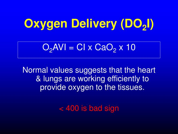 Oxygen Delivery (DO