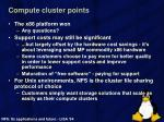 compute cluster points