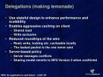 delegations making lemonade
