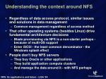 understanding the context around nfs