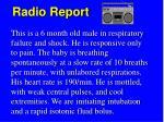 radio report1