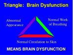 triangle brain dysfunction