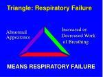 triangle respiratory failure