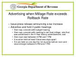 advertising when millage rate exceeds rollback rate