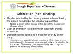 arbitration non binding