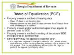 board of equalization boe
