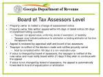 board of tax assessors level