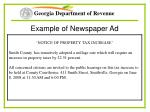 example of newspaper ad