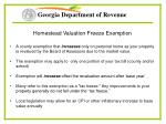 homestead valuation freeze exemption