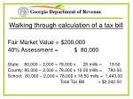 walking through calculation of a tax bill