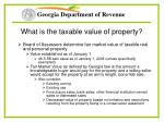 what is the taxable value of property