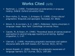 works cited 1 3