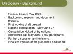 disclosure background