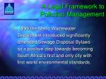a legal framework to pollution management