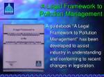 a legal framework to pollution management1