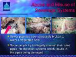abuse and misuse of sewerage systems