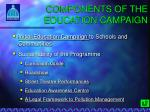 components of the education campaign