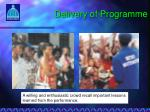delivery of programme12