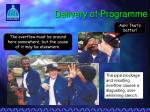 delivery of programme3