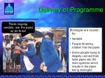 delivery of programme4