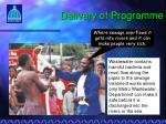delivery of programme6
