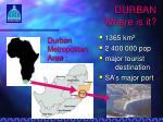 durban where is it