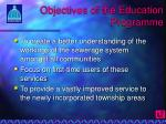 objectives of the education programme