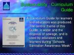 sustainability curriculum guide
