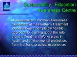 sustainability education awareness centre