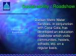 sustainability roadshow