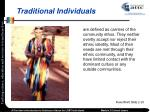 traditional individuals